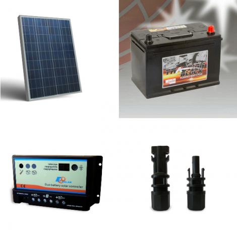 Kit Solare Fotovoltaico Camper Roulotte