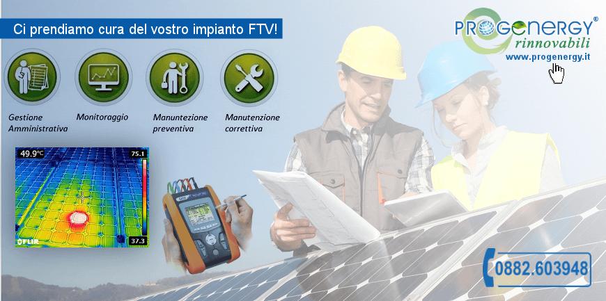 Fotovoltaico gestione e manutenzione